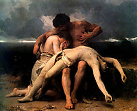The First Mourning, 1888, bouguereau