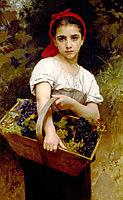 The Grape Picker, 1875, bouguereau