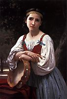 Gypsy Girl with a Basque Drum, 1867, bouguereau