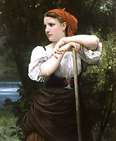 The Haymaker, 1869, bouguereau
