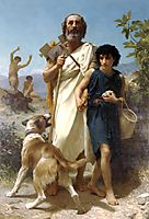 Homer and his Guide, 1874, bouguereau