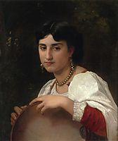 Italian Woman with Tambourine, 1869, bouguereau