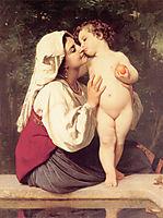 TheKiss, 1863, bouguereau