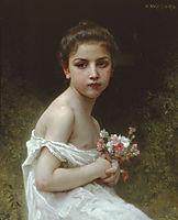 Litlle Girl with a Bouquet, 1896, bouguereau