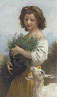 The Little Esmeralda, 1874, bouguereau