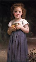 Little Girl with Apples in her Hands, 1895, bouguereau