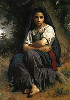 The Little Knitter, 1875, bouguereau