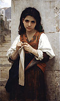 The Little Knitter, 1879, bouguereau