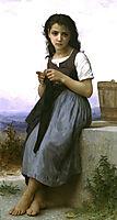 The Little Knitter, 1884, bouguereau
