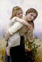 Not too much to carry, 1895, bouguereau