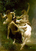 Nymphs and Satyr, 1873, bouguereau