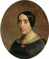 Portrait of Amelina Dufaud Bouguereau, 1850, bouguereau