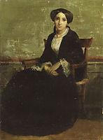 Portrait of Genevieve Celine, eldest daughter of Adolphe Bouguereau, 1850, bouguereau