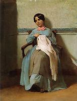 Portrait of Léonie Bouguereau, 1850, bouguereau