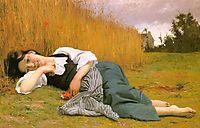 Rest at Harvest, 1865, bouguereau