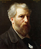 Self-portrait, presented to Mr Sage, 1886, bouguereau