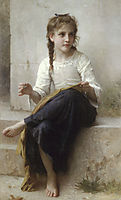 Sewing, 1898, bouguereau