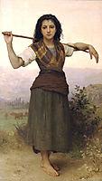 Shepherdess, 1889, bouguereau