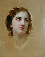 Sketch of a young woman, 18, bouguereau