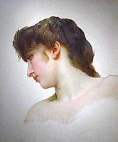 Study of a Blonde Woman-s Profile, 18, bouguereau