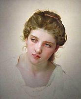 Study of the Head of a Blonde Woman, 1898, bouguereau