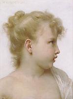 Study: Head of a litlle girl, 1888, bouguereau