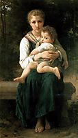 The Two Sisters, 1877, bouguereau