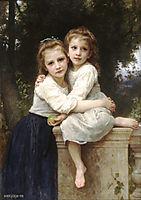 Two Sisters, 1901, bouguereau