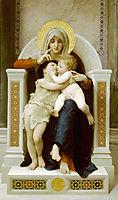 The Virgin, the Baby Jesus and Saint John the Baptist, 1875, bouguereau