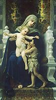The Virgin, Baby Jesus and Saint John the Baptist, 1881, bouguereau