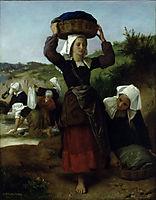 The Washerwomen of Fouesnant, 1869, bouguereau