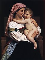 Woman of Cervara and Her Child, 1861, bouguereau