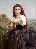 Young Shepherdess, 1868, bouguereau