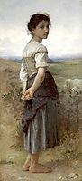 The Young Shepherdess, 1885, bouguereau