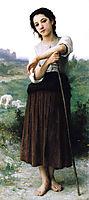 Young Shepherdess Standing, bouguereau