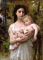 The younger brother, 1900, bouguereau