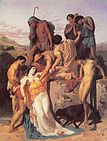 Zenobia found by Sheperds on the banks of the Araxes, 1850, bouguereau