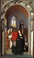 The Annunciation ((Polyptych of the Virgin, the wing), c.1445, bouts