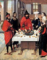 The Feast of the Passover - from the Winged altar in St. Peter in Leuven, c.1465, bouts