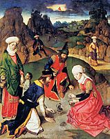 The Gathering of the Manna, c.1465, bouts