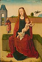 Madonna and Child on a grass bench, c.1470, bouts
