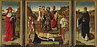 Martyrdom of Saint Erasmus, 1458, bouts