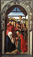 The middle panel of The Pearl of Brabant: Adoration of the Magi, c.1445, bouts
