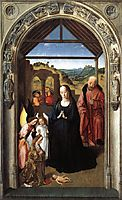 Nativity (Polyptych of the Virgin, the wing), c.1445, bouts