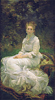 The Lady in white, bracquemond