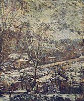 Landscape in wintertime, bracquemond
