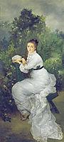 Louise Quivoron aka Woman in the garden, 1877, bracquemond