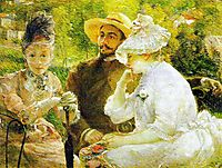 On the Terrace at Sèvres, 1880, bracquemond