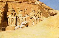 Abu Simbel, 1874, bridgman