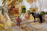 An Algerian Street, bridgman